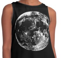 Black and White Moon Sketch Contrast Tank
