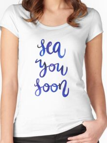 Sea You Soon! Women's Fitted Scoop T-Shirt