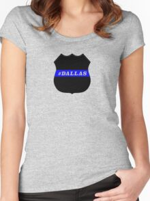 Dallas police shooting victims honored Women's Fitted Scoop T-Shirt
