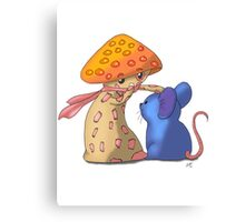 Mouse and Mushroom Canvas Print