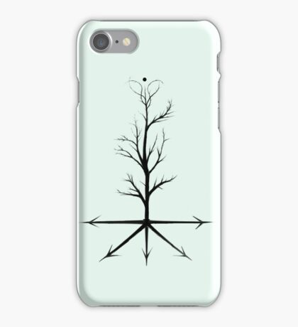 The Direction Tree - Snow Green iPhone Case/Skin