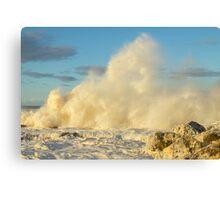 Waves of Foam Canvas Print