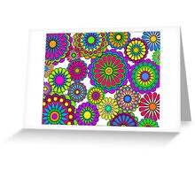 Happy Hippy Flowers Greeting Card