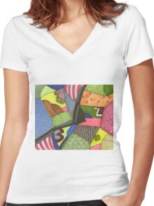 Coast View 01 (2013) Postcard Women's Fitted V-Neck T-Shirt