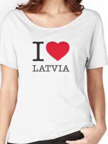 I ♥ LATVIA Women's Relaxed Fit T-Shirt