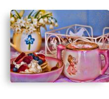 Hot Chocolate & Pancakes for Me! Canvas Print