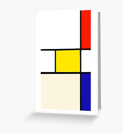 A Piet Mondrian Study Greeting Card