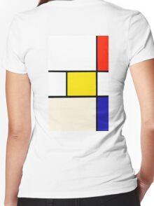 A Piet Mondrian Study Women's Fitted V-Neck T-Shirt