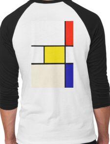 A Piet Mondrian Study Men's Baseball ¾ T-Shirt