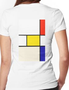 A Piet Mondrian Study Womens Fitted T-Shirt