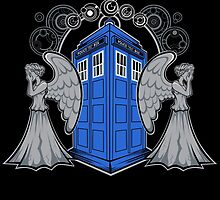 Weeping Angels and the Tardis by Rob Reep