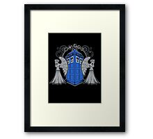 Weeping Angels and the Tardis Framed Print