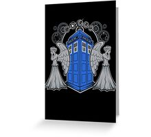 Weeping Angels and the Tardis Greeting Card