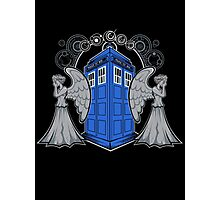 Weeping Angels and the Tardis Photographic Print