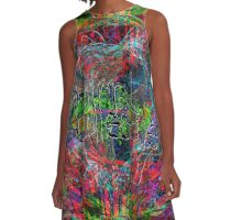 Abstract Animal Collective  A-Line Dress