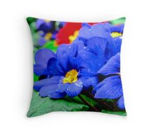 The Purple Primoses Throw Pillow