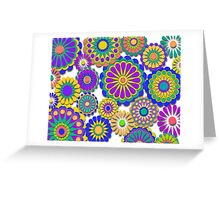 Happy Hippy Flowers 2 Greeting Card