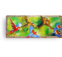 Parrot Party Canvas Print