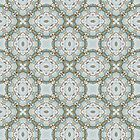 blue yellow floral pattern by Heidivaught