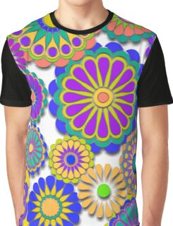Happy Hippy Flowers 2 Graphic T-Shirt