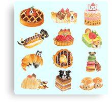 Puppy Pastries Metal Print