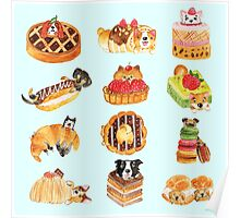 Puppy Pastries Poster