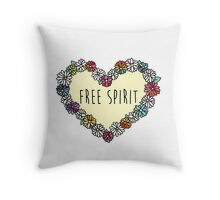 Free Spirit Daisies Throw Pillow