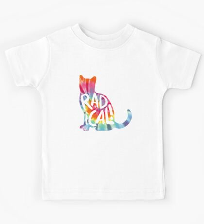 Radical Cat Tie Dye Kids Tee