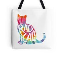 Radical Cat Tie Dye Tote Bag