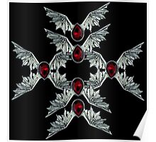 Gothic Blood Stone Bat Wings Poster