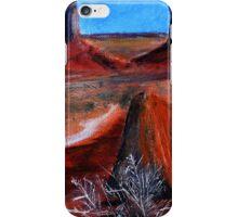 Utah Desert Landscape Acrylics On Canvas Board iPhone Case/Skin