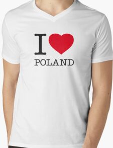 I ♥ POLAND Mens V-Neck T-Shirt