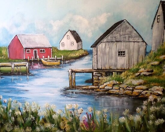 Peggy's Cove by Pamela Plante
