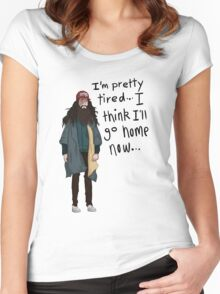 I Think I'll Go Home Now... Women's Fitted Scoop T-Shirt