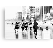 City at the beach Metal Print