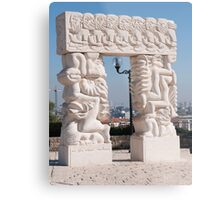 Israel, Old City of Jaffa Statue of Faith  Metal Print