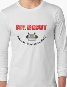 Mr Robot Computer Repair Smile Long Sleeve T-Shirt