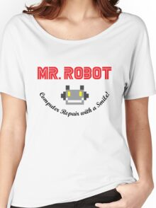 Mr Robot Computer Repair Smile Women's Relaxed Fit T-Shirt