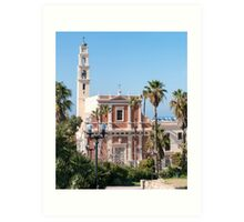 Israel, Jaffa, St Peter church and Monastery Art Print