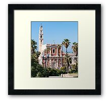Israel, Jaffa, St Peter church and Monastery Framed Print