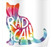 Radical Cat Tie Dye Poster