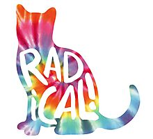 Radical Cat Tie Dye Photographic Print
