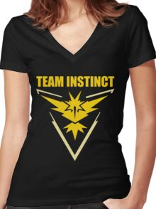 Pokemon Go - Team Instinct Women's Fitted V-Neck T-Shirt