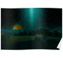 Israel, Jerusalem, the Wailing Wall and Dome of the Rock Poster