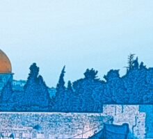 Israel, Jerusalem, the Wailing Wall and Dome of the Rock Sticker