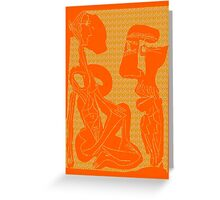 Abstract Figures Greeting Card