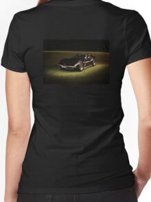 69 Black Vette Women's Fitted V-Neck T-Shirt
