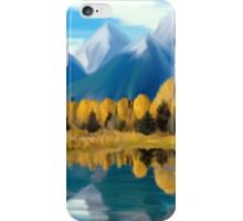 Reflection in a mountain lake iPhone Case/Skin