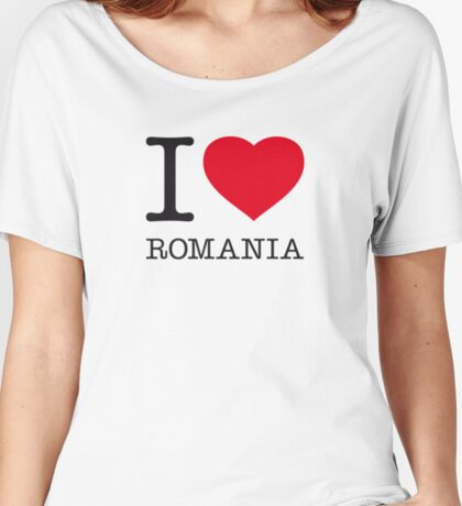 I ♥ ROMANIA Women's Relaxed Fit T-Shirt