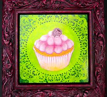 Raspberry Cream Cupcake by Heather Bradley
